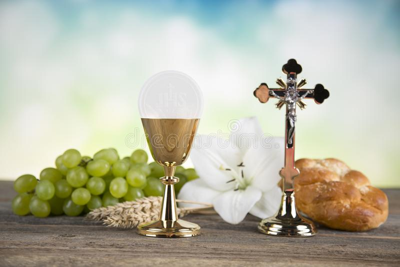 Sacrament of communion, Eucharist symbol royalty free stock photos