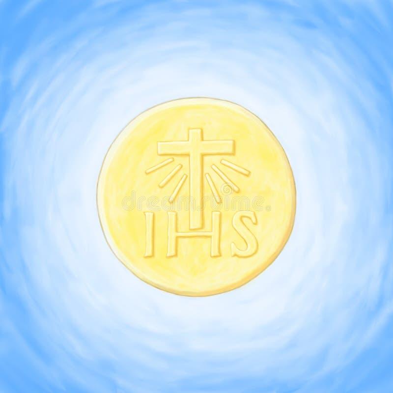 Eucharistie d'hôte illustration de vecteur