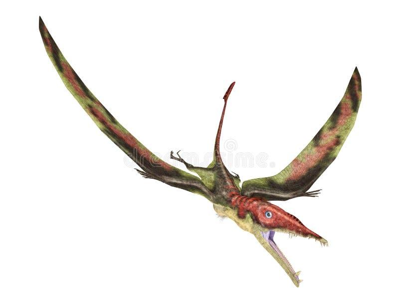 Eudimorphodon que vuela el reptil prehistórico, represe fotorrealista stock de ilustración