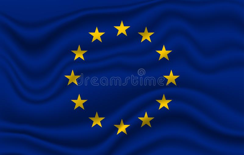 euEuropa flagga stock illustrationer