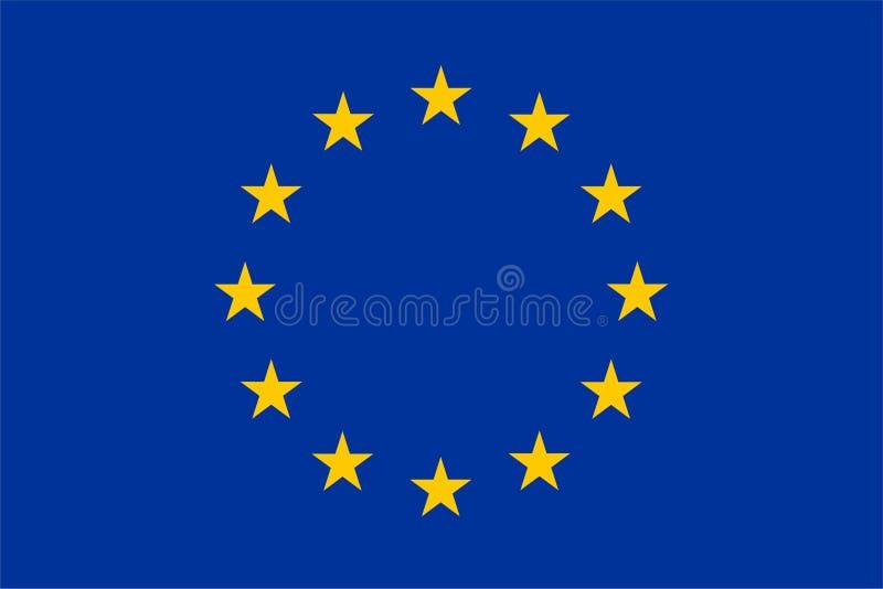 euEuropa flagga vektor illustrationer