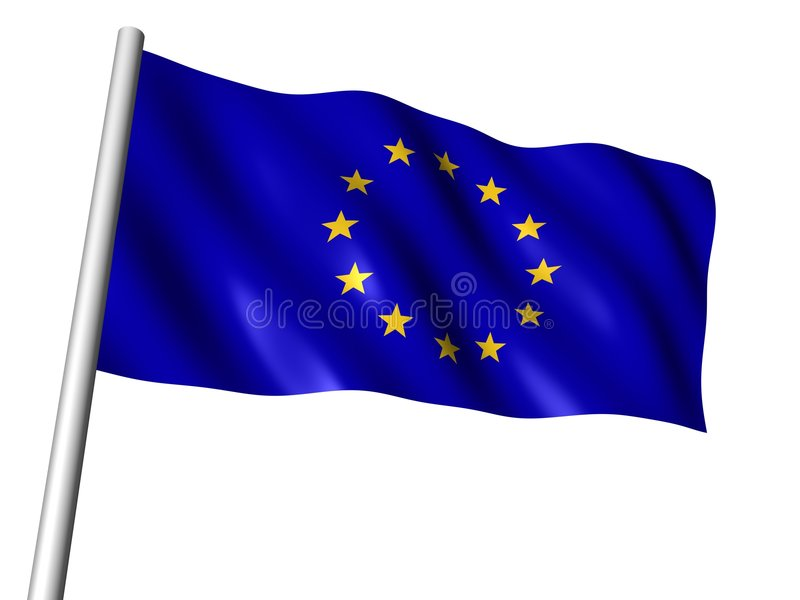 euflagga royaltyfri illustrationer