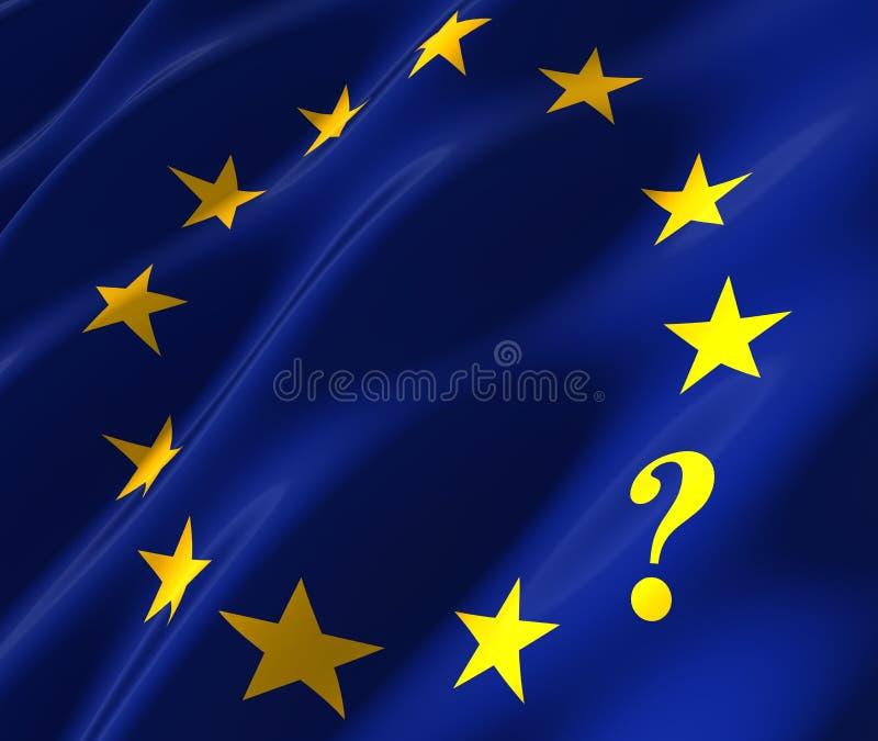 Euflagga med questionmark stock illustrationer