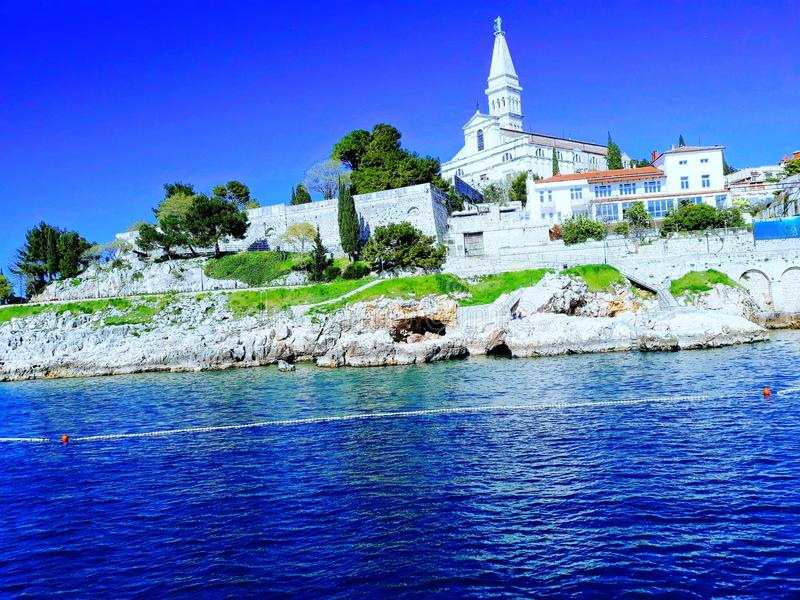 Eufrazije προέχον, Porec, Κροατία στοκ φωτογραφίες