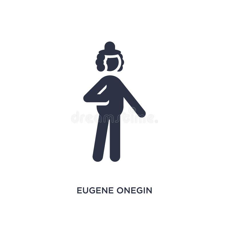 eugene在白色背景的onegin象 从文学概念的简单的元素例证 皇族释放例证
