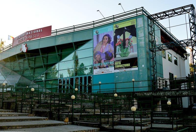 Eugene Ionescu National Theatre, Chisinau, Moldova imagens de stock