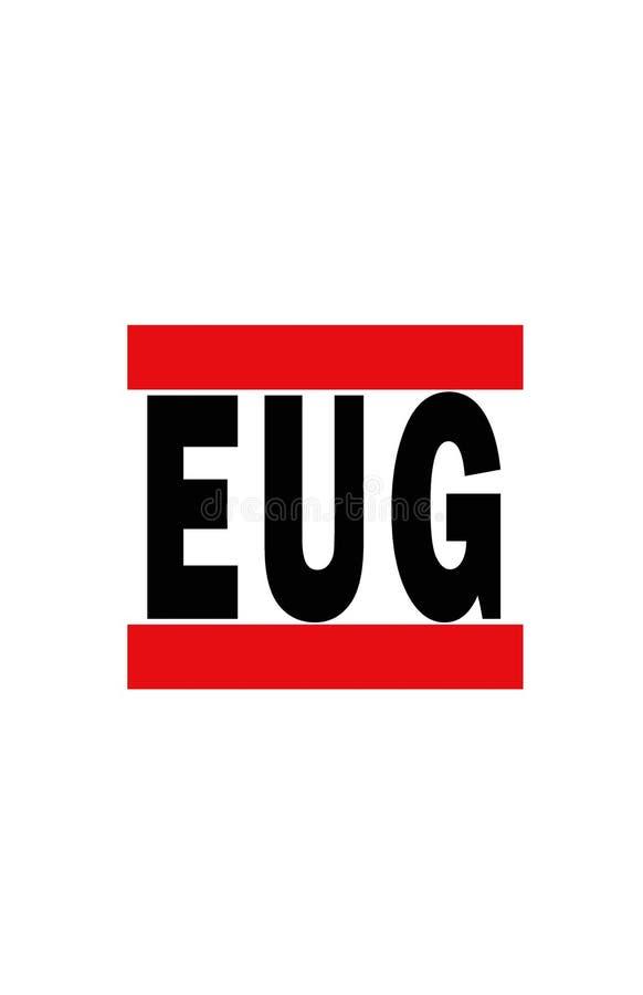 Eugene, Orégon illustration de vecteur