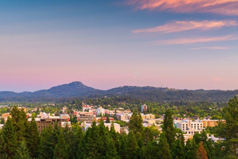 Eugene Oregon, USA horisont arkivfoto