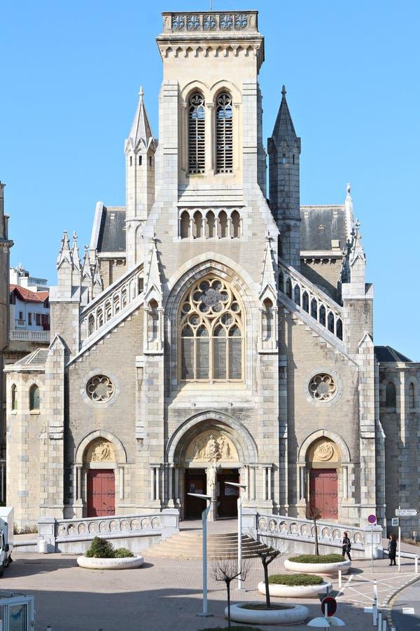 Eugenie central de St d'église de Biarritz photos stock