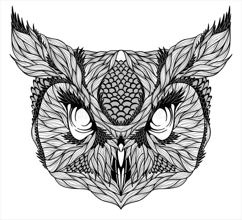 EULEN-Haupttätowierung psychedelisch vektor abbildung