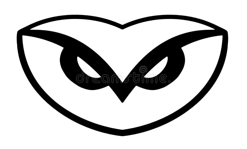 Eulenzeichen stock abbildung