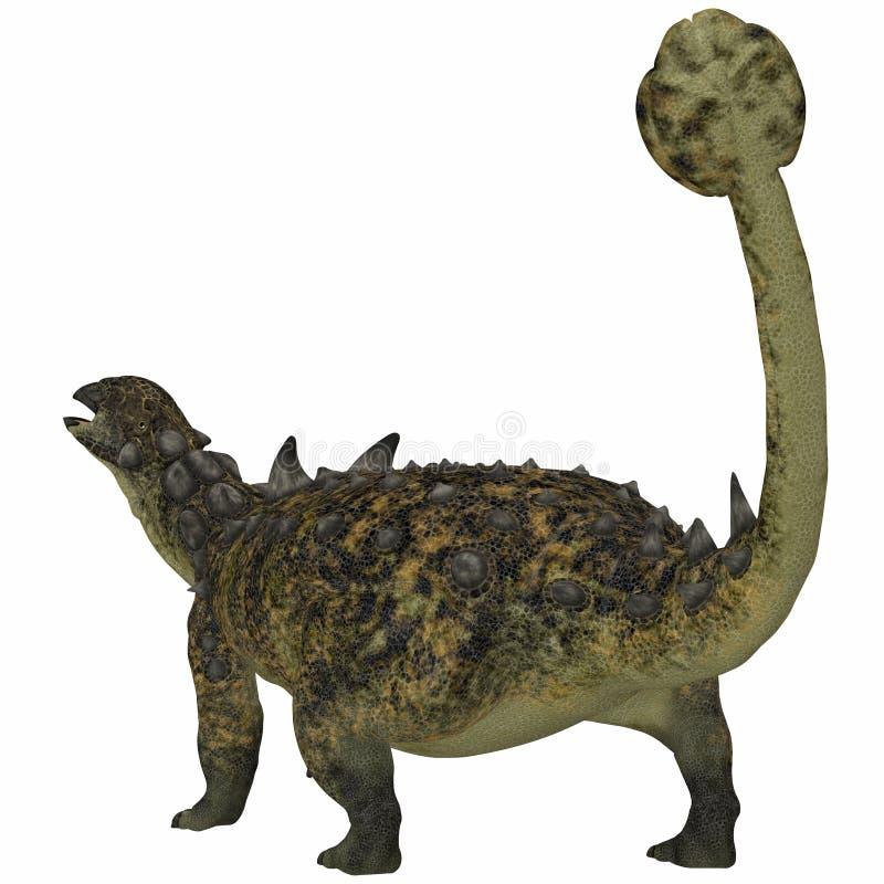 Euoplocephalus dinosaura ogon ilustracja wektor