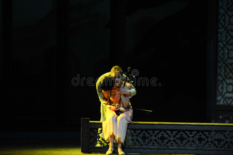 Euphemism touching song-The second act of dance drama-Shawan events of the past. Guangdong Shawan Town is the hometown of ballet music, the past focuses on the royalty free stock photo