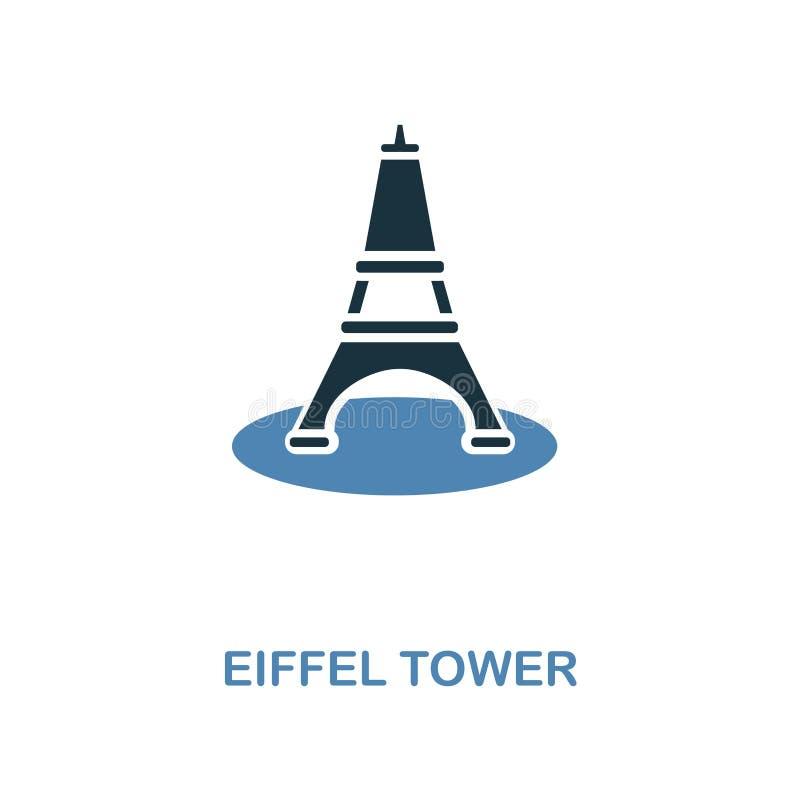 Euphile在两种颜色的设计的塔象 简单的元素例证 从蜜月汇集的Euphile塔创造性的象 为了我们 皇族释放例证