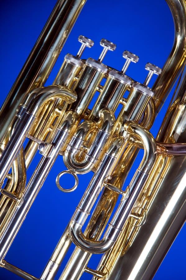 Download Euphonium De La Tuba Aislado En Azul Foto de archivo - Imagen de cierre, claxon: 7279238