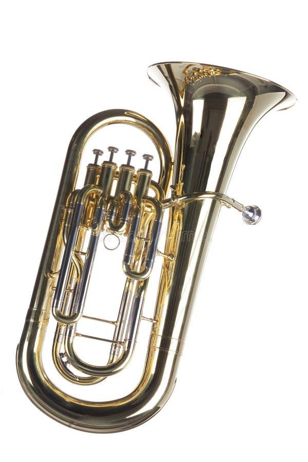 euphonium odosobniony tuba biel obrazy royalty free