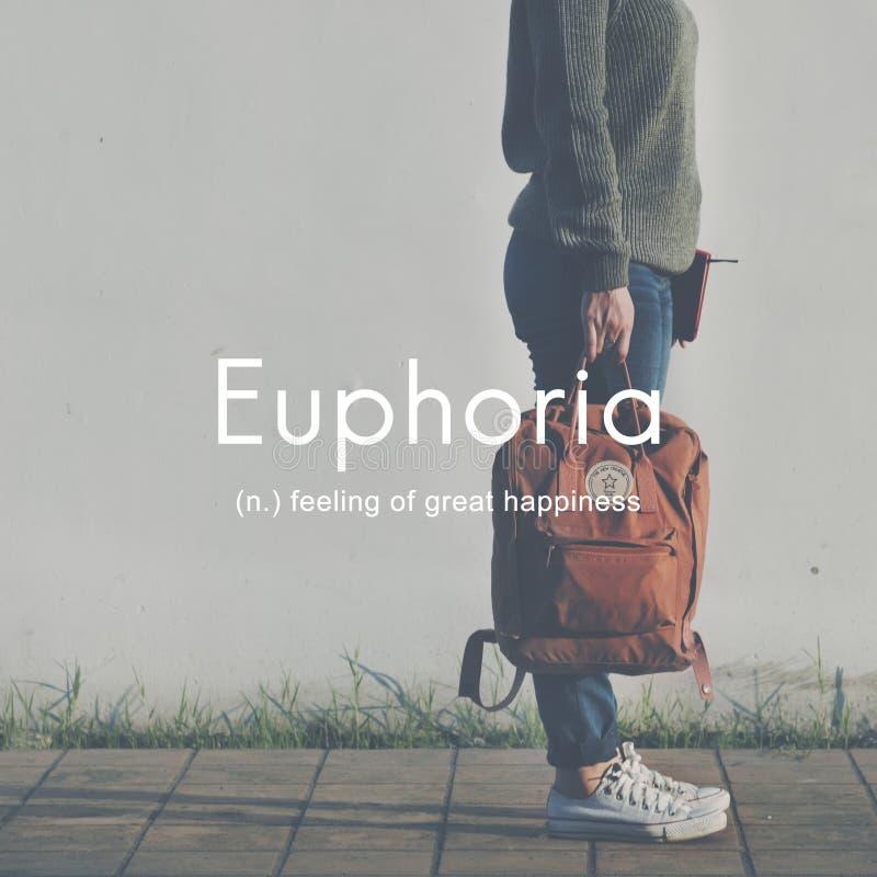 Euphoria Feeling Great Pleasure Happiness Concept. Euphoria Feeling Great Happiness Concept royalty free stock image