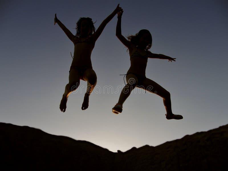 Euphorische Kinder 1 stockfotografie