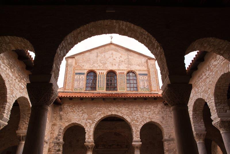 Euphrasian Basilica in Porec, Istria, Croatia. royalty free stock images