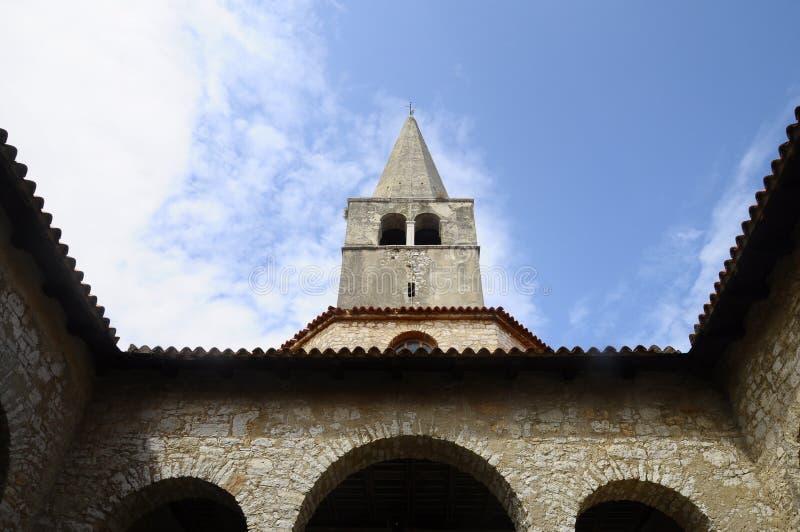 Euphrasianbasiliek in Porec, Kroatië stock foto's