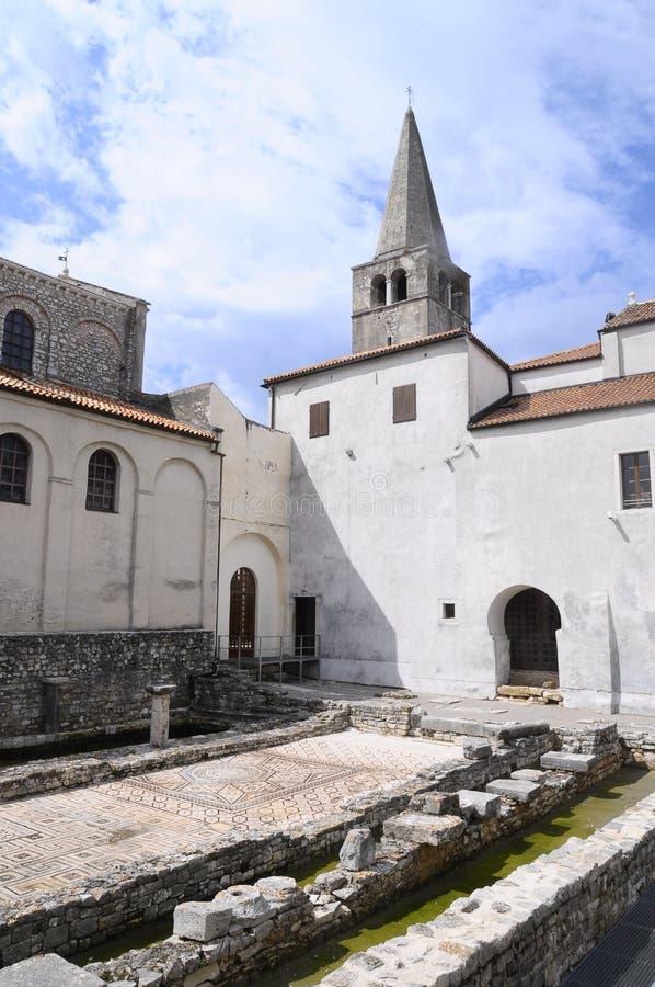 Euphrasianbasiliek in Porec, Kroatië royalty-vrije stock foto's