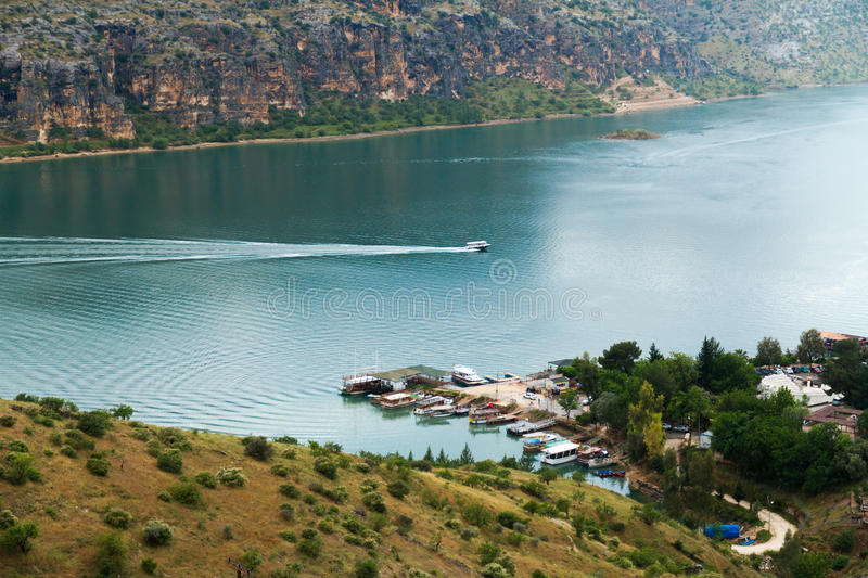 Euphrates River dans Halfeti photos stock