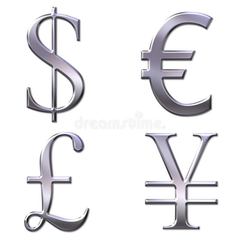 Free Eur, Dollar, Yen, Pound Symbols Royalty Free Stock Image - 4552036