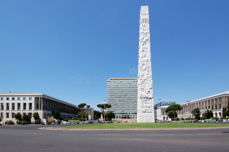 EUR Obelisk - Rome stock images