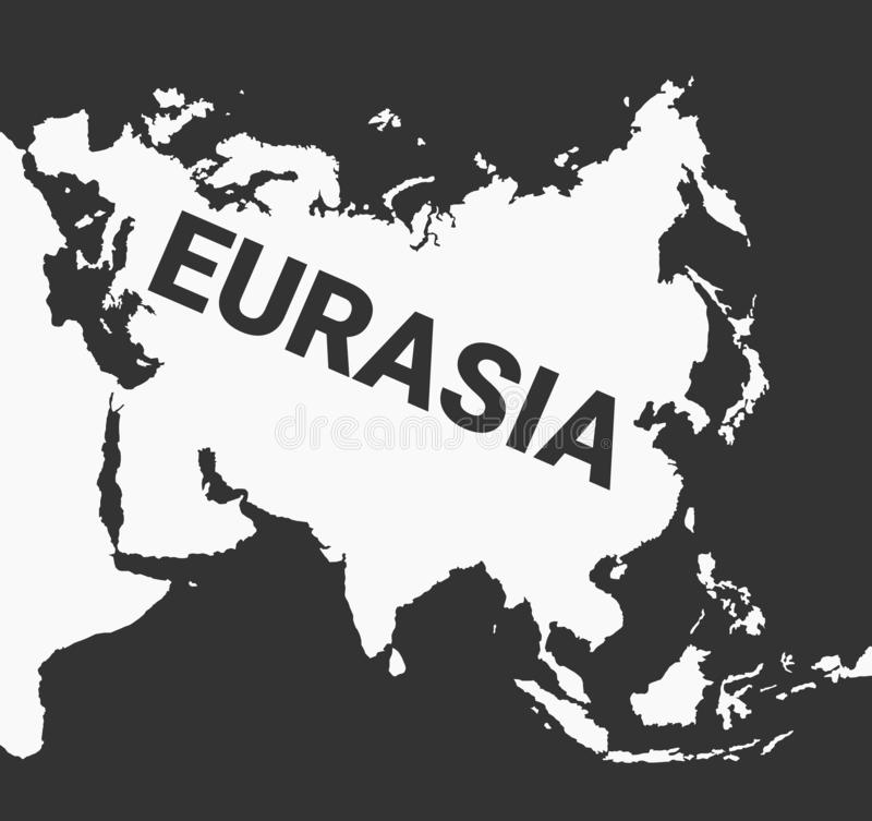 Eurasia - large continent of Europe and Asia stock illustration
