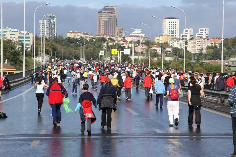 Eurasia-Marathon lizenzfreies stockbild