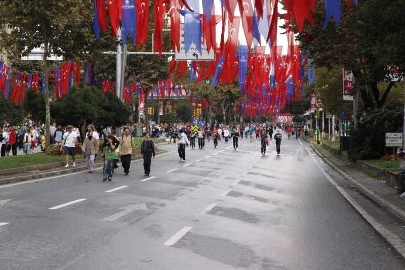 Eurasia-Marathon stockfotografie