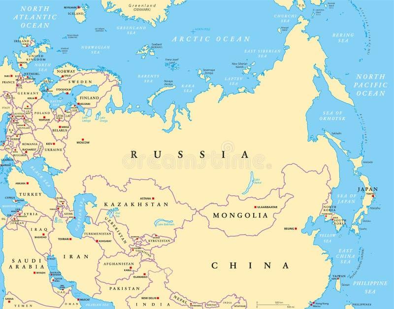 Eurasia Political Map Stock Vector Illustration Of Eurasia - China political map in english