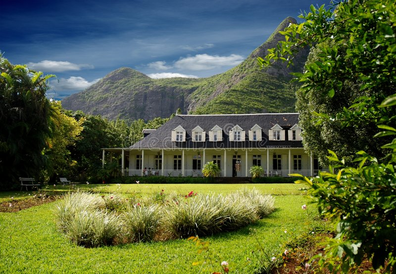 Eureka Colonial House. In Mauritius royalty free stock photo