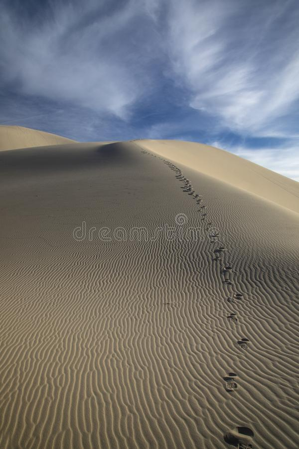 Eureka Dunes. At Death Valley National Park are amongst the highest in North America stock photo
