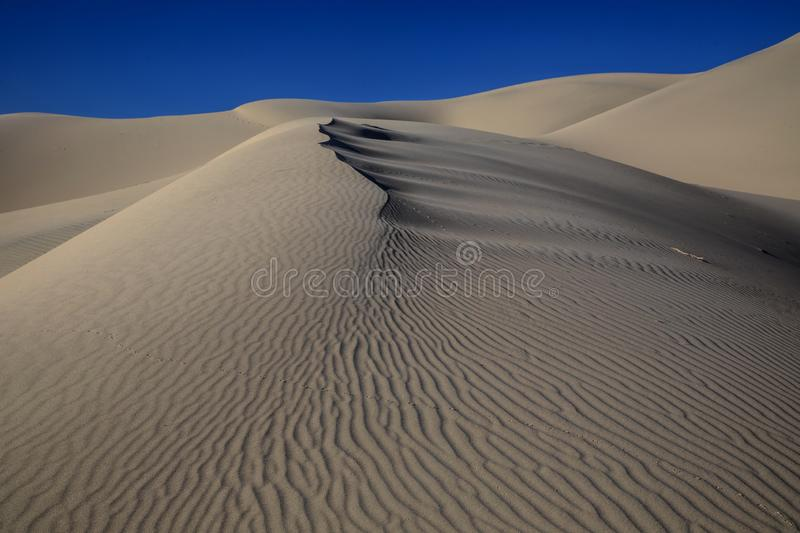 Eureka Dunes. At Death Valley National Park are amongst the highest in North America royalty free stock photos