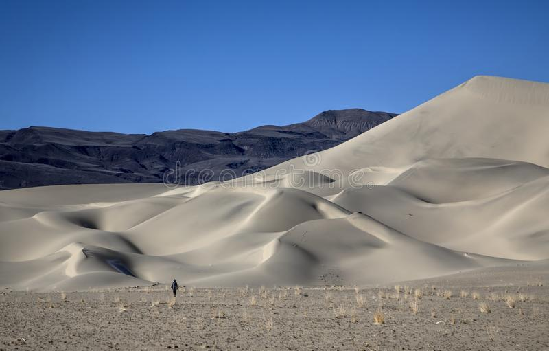 Eureka Dunes. At Death Valley National Park are amongst the highest in North America stock photos