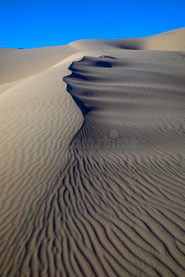 Eureka Dunes. At Death Valley National Park are amongst the highest in North America royalty free stock photography