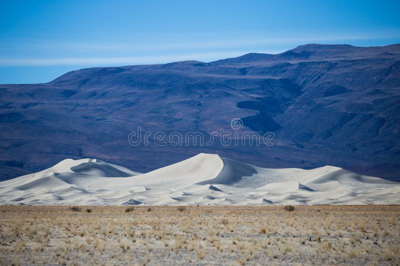 The white sand Dunes of Eureka Valley stock image