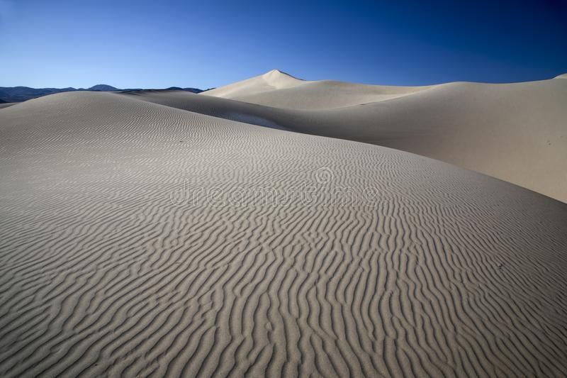 Eureka Dunes. At Death Valley National Park are amongst the highest in North America stock image