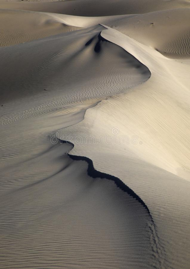 Eureka Dunes. At Death Valley National Park are amongst the highest in North America royalty free stock images