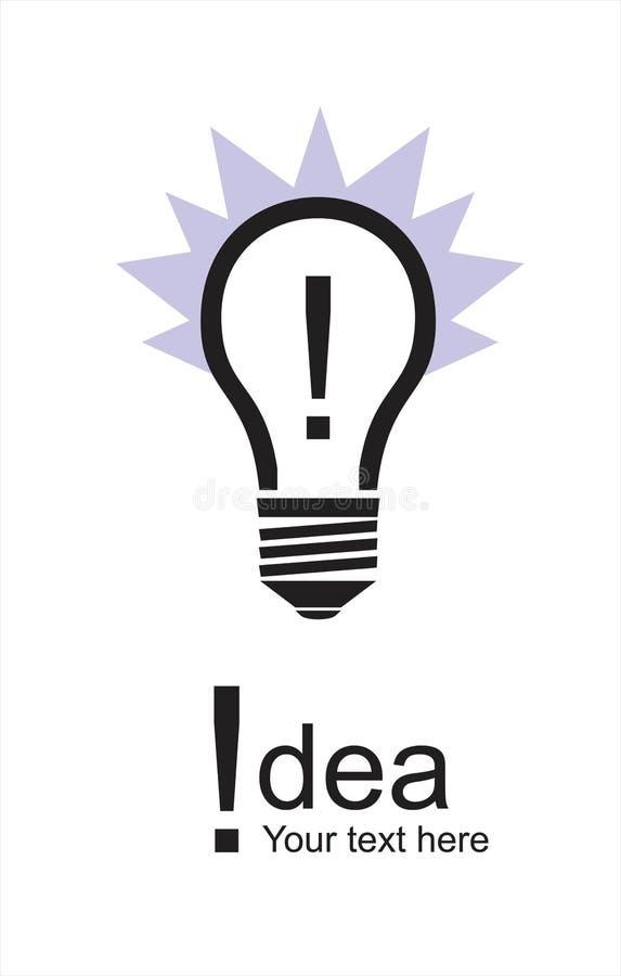 Eureka idékula, symbol för belysningkula vektor illustrationer