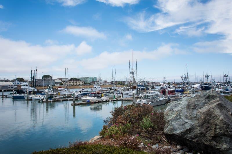 EUREKA KALIFORNIA: Łódkowaty schronienie wzdłuż Kalifornia linii brzegowej blisko oceanu spokojnego zdjęcie royalty free