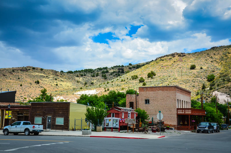 Eureka, Nevada stock fotografie