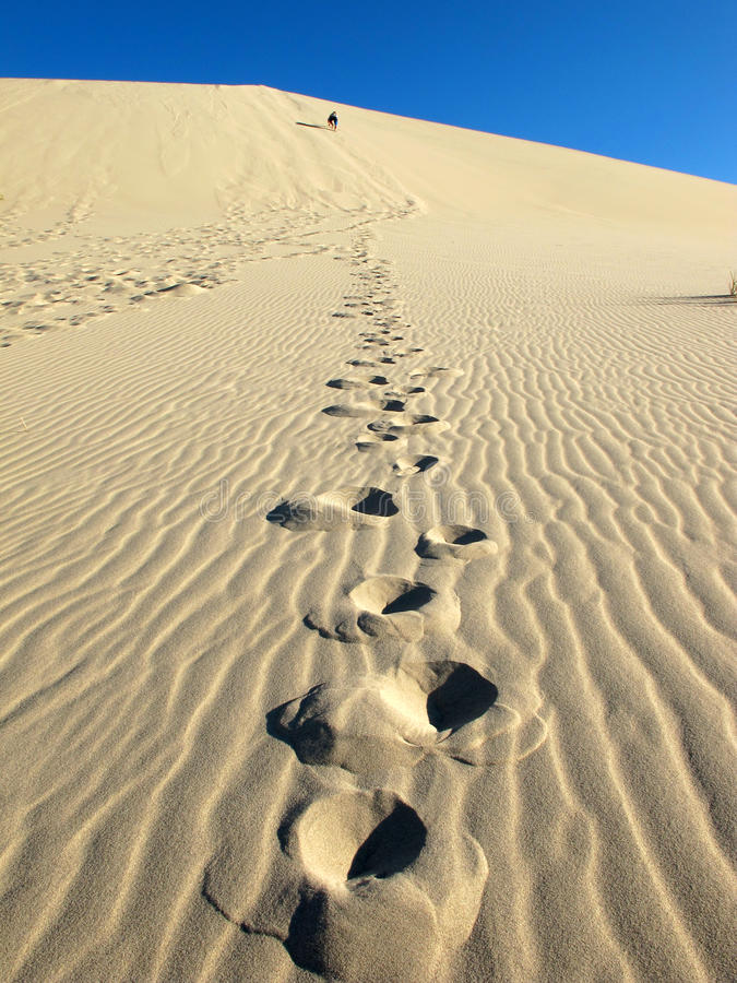 Download Eureka Sand Dune footprint stock photo. Image of hike - 26119648