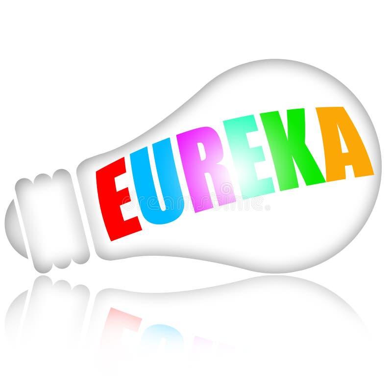Eureka snilleidé royaltyfri illustrationer