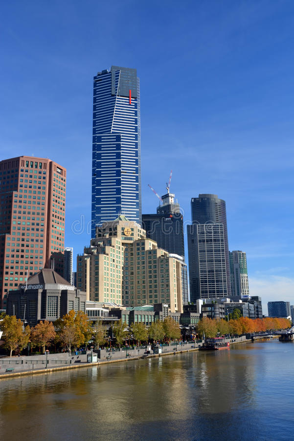 Eureka Tower, Melbourne - Tallest Building in Southern Hemisphere. stock photo