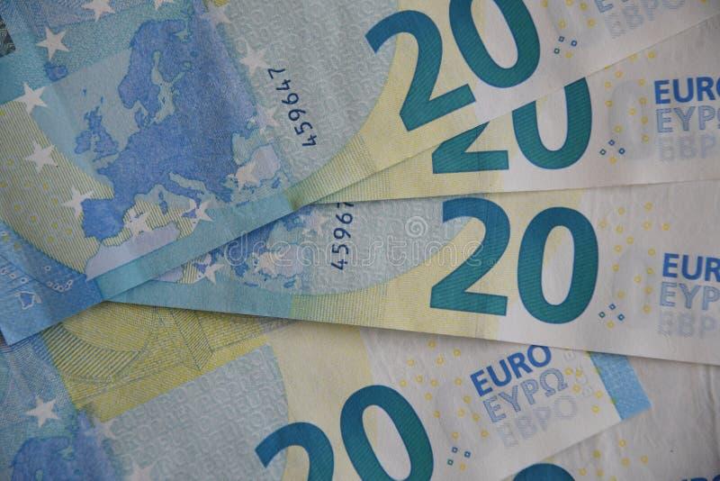 EURO 20 ÅR BLAND FACKLIGA LÄNDER FÖR EUROEPAN royaltyfria foton