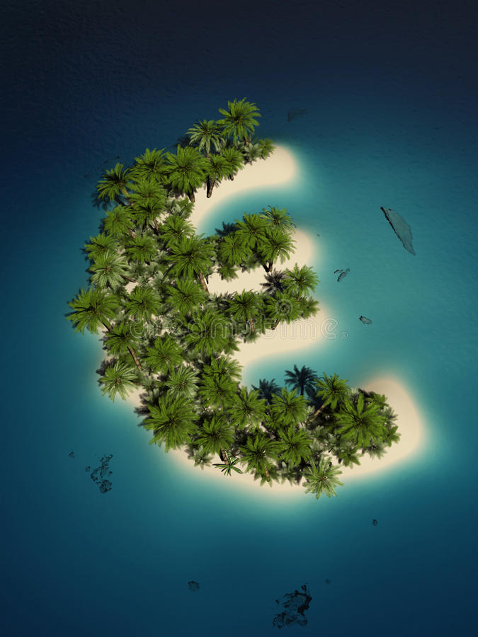 Euro île illustration stock
