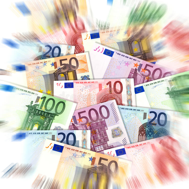 Euro. Banknotes, background with zoom effect royalty free stock image