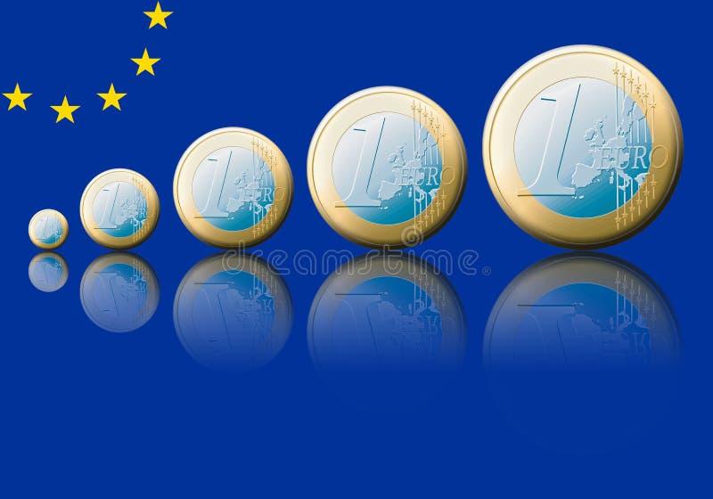 Euro. Symbolic increase of the european value